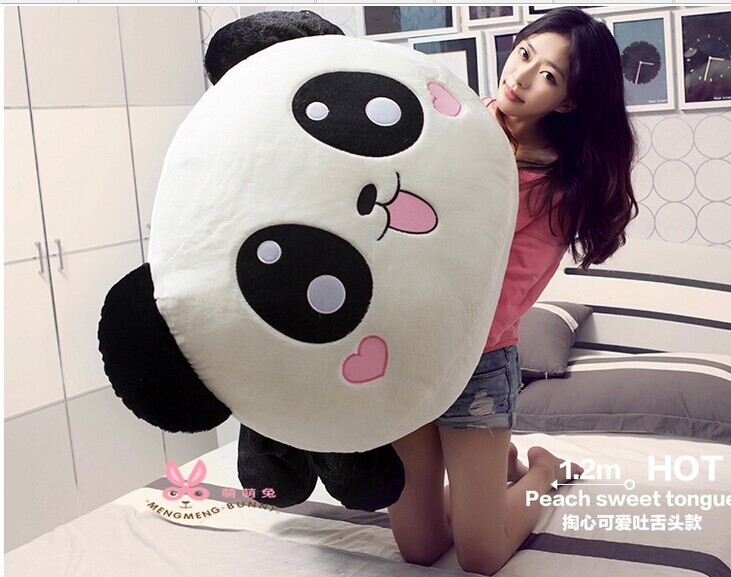 lovely panda plush toy stuffing panda doll so large 95cm toy , Christmas gift w9707 largest size 95cm panda plush toy cute expression panda doll birthday gift w9698