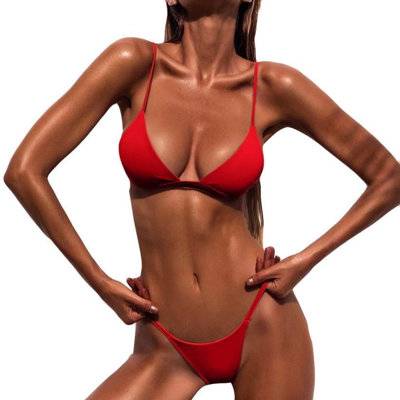 Women s swimsuit 2019 Women Push Up Padded Bra Beach Bikini Set Swimsuit Swimwear pure color Women's swimsuit 2019 Women Push-Up Padded Bra Beach Bikini Set Swimsuit Swimwear pure color swimwear high waisted biquini
