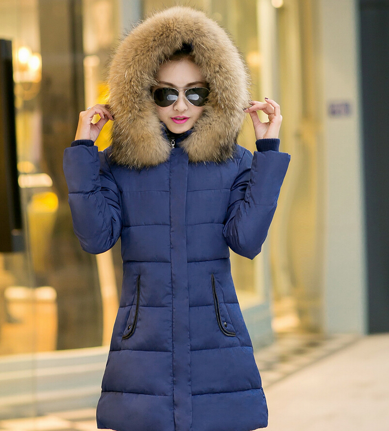 ФОТО 2016 Fashion Winter Thick warm women Down jacket coats Hooded cotton-padded parkas female coat Wadded padded jacket coats
