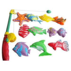 Магнитная игра рыбалка коробка 11 рыба+ 1 стержень детская игрушка