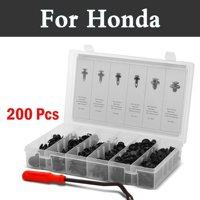 200pcs Auto Clips Assortment + Fastener Remover + Clip Pliers Set For Honda Accord Airwave City Crossroad Crosstour Element