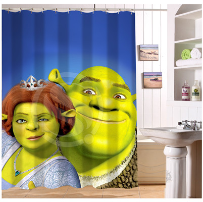 U412 56 Custom Home Decor Shrek Forever After Cartoon Fabric Modern Shower Curtain European Style Bathroom Waterproof