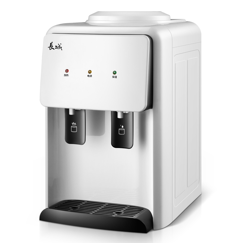 White Home Desktop Mini Warm&Hot Water Dispenser Pushing Switch Convenient Getting Water Energy-saving Water Heating Machine drinking fountains home ice hot desktop cooling dormitory small mini energy saving special ice warm water dispenser