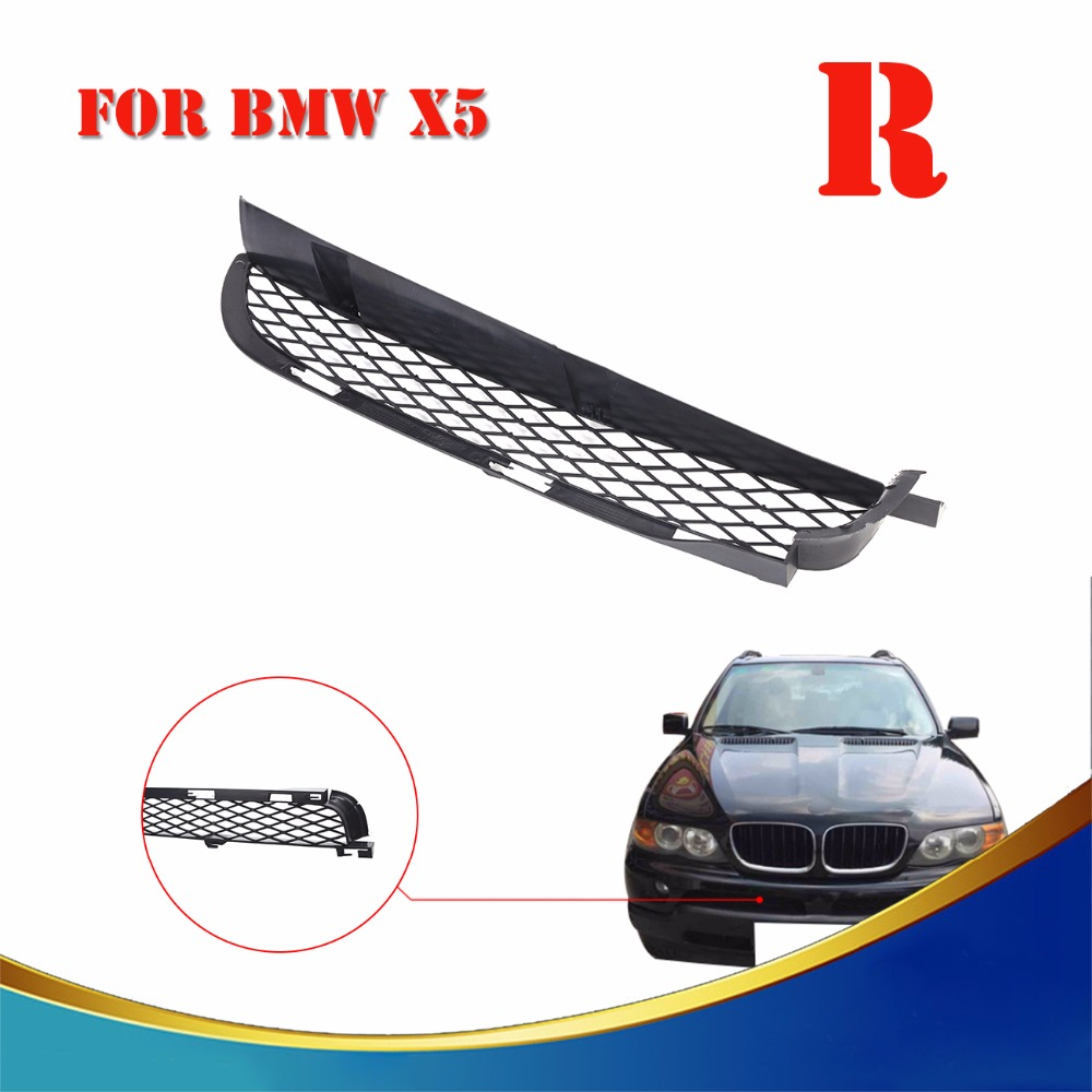 RIGHT BMW X5 E53 2000-2003 NEW FRONT BUMPER UPPER RADIATOR GRILLES LEFT