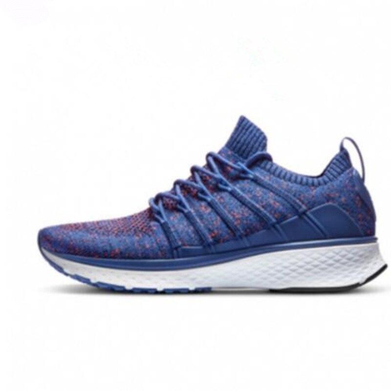 En Stock!! Xiaomi Mijia chaussures Sneaker 2 Sports en cours d'exécution respirant nouveau Fishbone Lock élastique tricot Vamp pour hommes en plein air intelligent