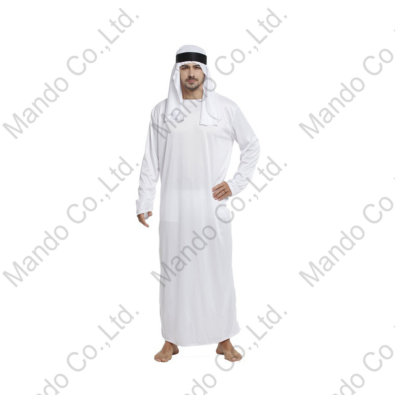 Adult Man Middle East Prince of Arabia Dubai chief Style Halloween fancy Costume Male Masquerade party costume Dresses