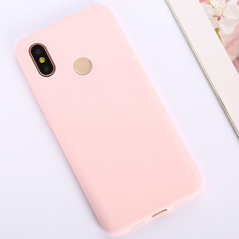 Цветной ТПУ силиконовый чехол для Xiao mi Red mi Note 6 5 7 8 Pro Red mi 7 6A 7A матовый чехол для Xiaomi mi 9 SE mi 9T mi 8 Lite mi A2 A1 A3 - Цвет: Pink