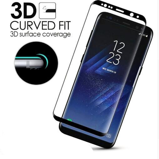 72394b59a 6D Curvo Completa Tampa de Vidro Temperado Para Samsung Galaxy S9 S8 S7 S9  Além de