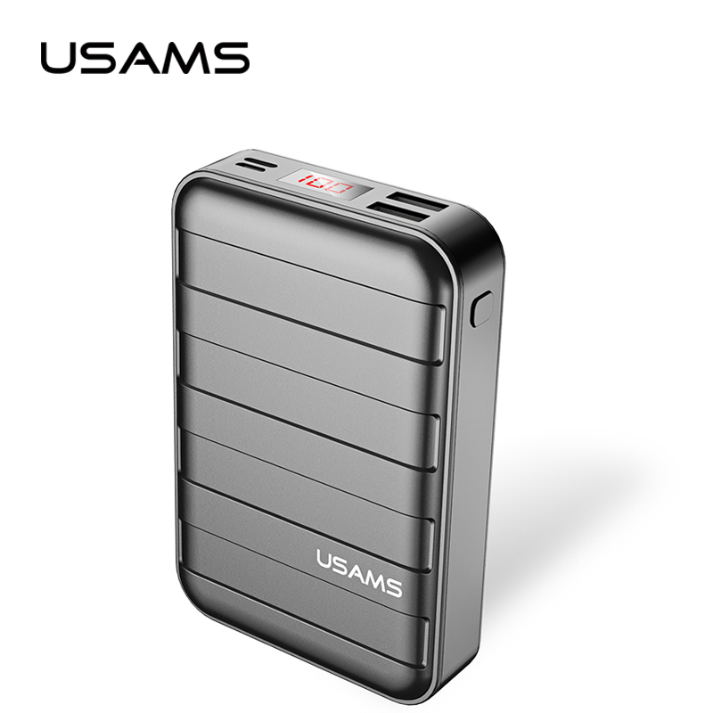 bilder für Energienbank 20000 mAh USAMS Tragbare Power Externe Batterie led-anzeige bildschirm Dual USB Ladegerät Für Xiaomi iPhone 7 6 6 S 5