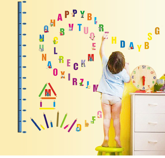 Buy 26 alphabets growth chart height for Growth chart for kids room