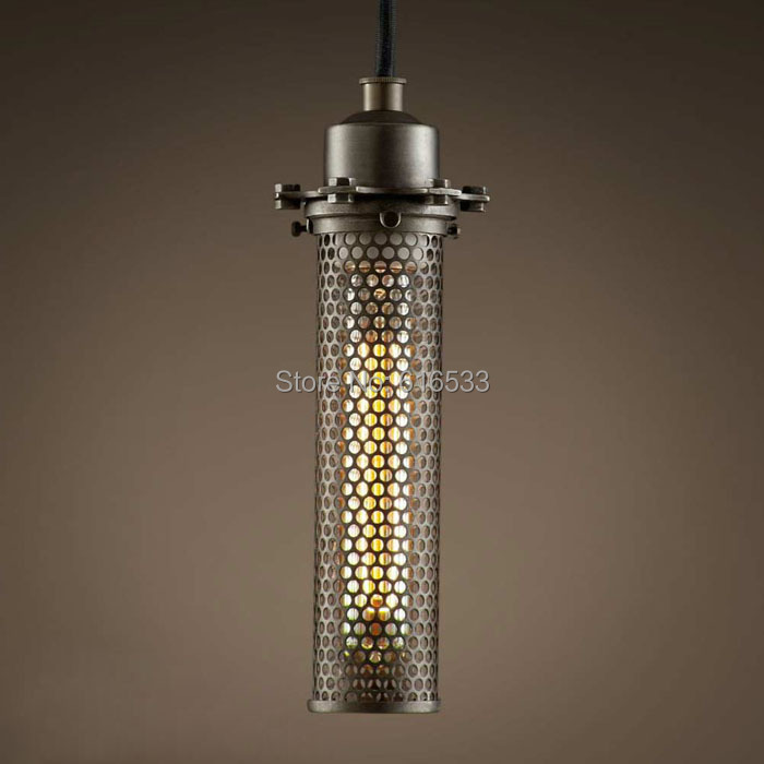 Vintage Loft Industrial American Hollow Grid Mesh Lustre Edison Pendant Lamp Kitchen Dinning Living Room Home Decor Lighting - YH Manufacturer store