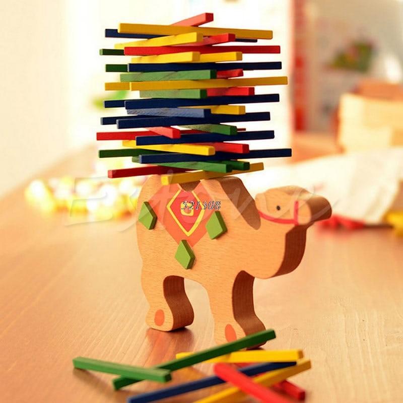 Bayi Mainan Pendidikan Gajah Unta Menyeimbangkan Blok Mainan Kayu - Mainan bangunan dan konstruksi - Foto 2