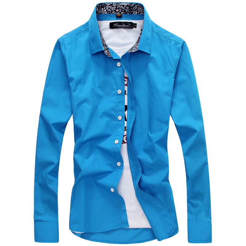 MarKyi Men Clothes 2017 Male Shirt Floral Long Sleeve Casual Slim Fit Plus Size 5xl Mens Dress Shirts Cheap Male Clothing