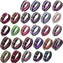 Chegada de novo! 27 cores disponíveis 18mm 20mm 22 MM 24mm faixa de Relógio de Nylon de Alta qualidade à prova d' água pulseira de relógio de moda pulseira