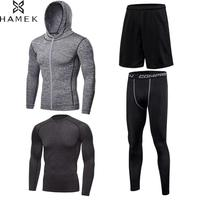 Men's Sport Suits Fitness Running Sets Basketball Training Tracksuit Kits Compression Quick Dry Gym Jogging Workout Sportswear