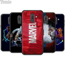 Silicone Black Phone Case Cover for Samsung Galaxy J4 J6 J8 Plus 2018 J4Plus J6Plus Cases Coque Marvel Superheroes The Avengers