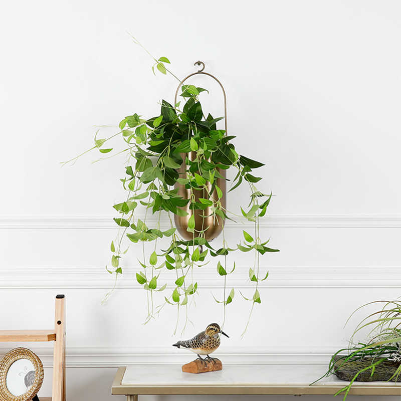 High Quality Vitality artificial plant leaves vine rattan silk Green wicker DIY Flower home garden decoration room wedding decor