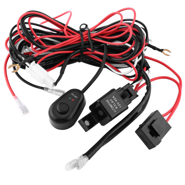 car on off switch wiring harness 12v 40a relay 30a blade fuse kit rh aliexpress com 5 Wire Relay Wiring Wiring Harness Connector Plugs
