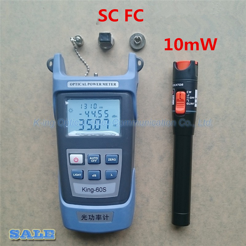 2 in1 FTTH Fiber Optic Tool Kit Fiber Optical Power Meter -70 + 10dBm and VFL 10mW Visual Fault Locator Fiber optic test pen