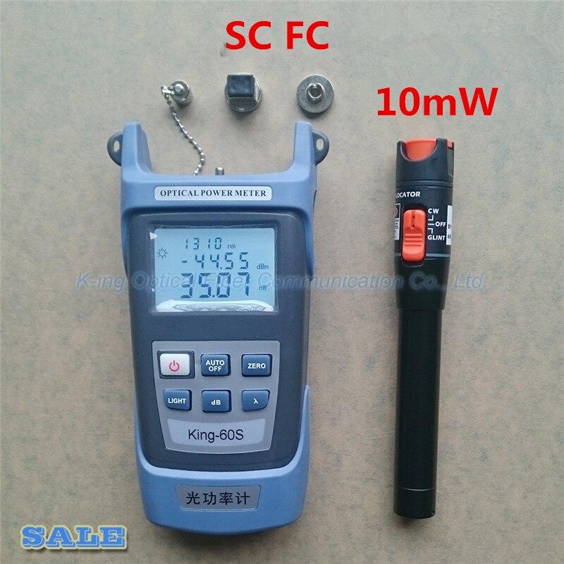 2 in1 FTTH Fiber Optique Outil Kit Fiber Optique Power Meter-70 + 10dBm et VFL 10 mW Visuel Localisateur de défaut De Fiber optique test stylo