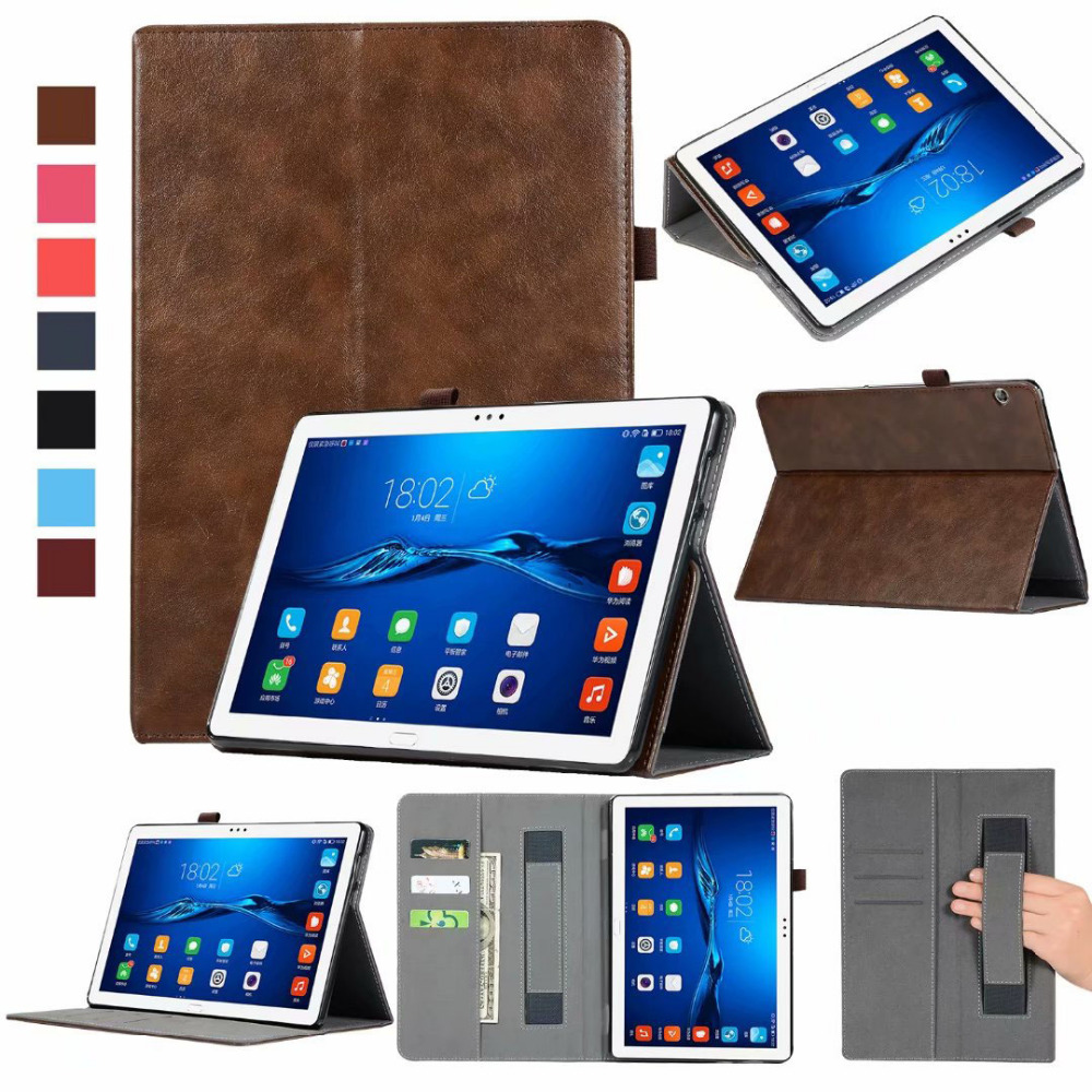 Slim Cowhide Leather Stand Magnet Smart Wake Sleep Cover Coque Case For Huawei Mediapad T5 10 AGS2-W09/L09/L03/W19 Tablet