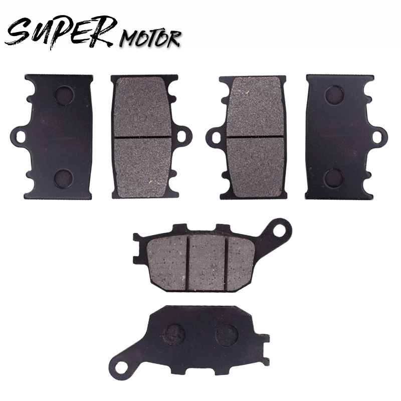 1Set Front And Rear Brake Pads Disks Shoes For Suzuki GSF 650 1250 Bandit 2007 2008 2009 2010 2011 2012 13 SV 1000 disc brake pads set for suzuki sv650 sv 650 a naked abs 2007 2008 2009 2010 gsr750 gsr 750 abs