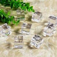 25mm 5 sztuk wielokrotnego użytku fałszywe kostki lodu sztuczne akrylowe kryształowe kostki Wedding Party Decor Whisky napoje wyświetlacz fotografia rekwizyty
