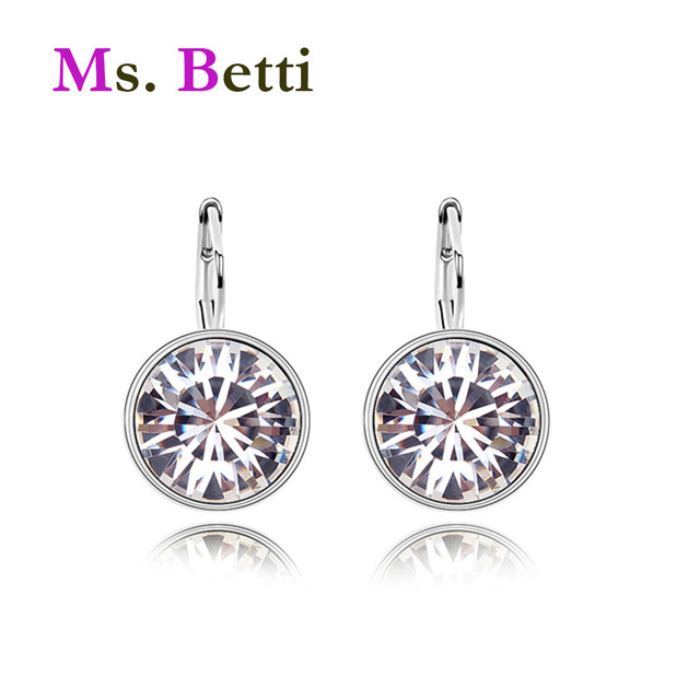 f129c23c579 2019 Hot Sale Bella mini pierced round earrings Crystals from SWAROVSKI  good for Christmas Gift