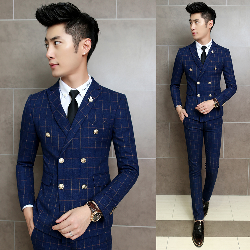 Online Get Cheap Korean Double Breasted Mens Suit -Aliexpress.com ...
