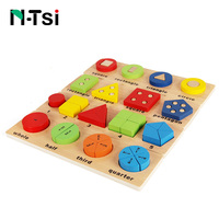 N Tsi Kids Montessori Educational Wooden Math Toys Shape Sorting Puzzle Board Early Learning Educational Game