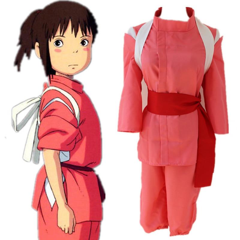 Огино Тихиро косплей костюм одежда Японское аниме Унесенные призраками косплей одежда