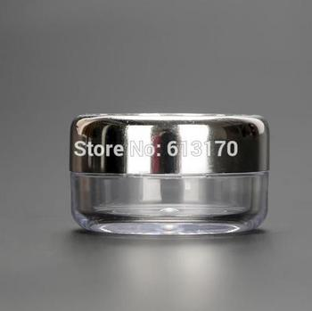 New Arrival 10g Empty cream jar 10ml cosmetic jar with Silver Aluminum Lid sample jars Diy Packing container Free shipping