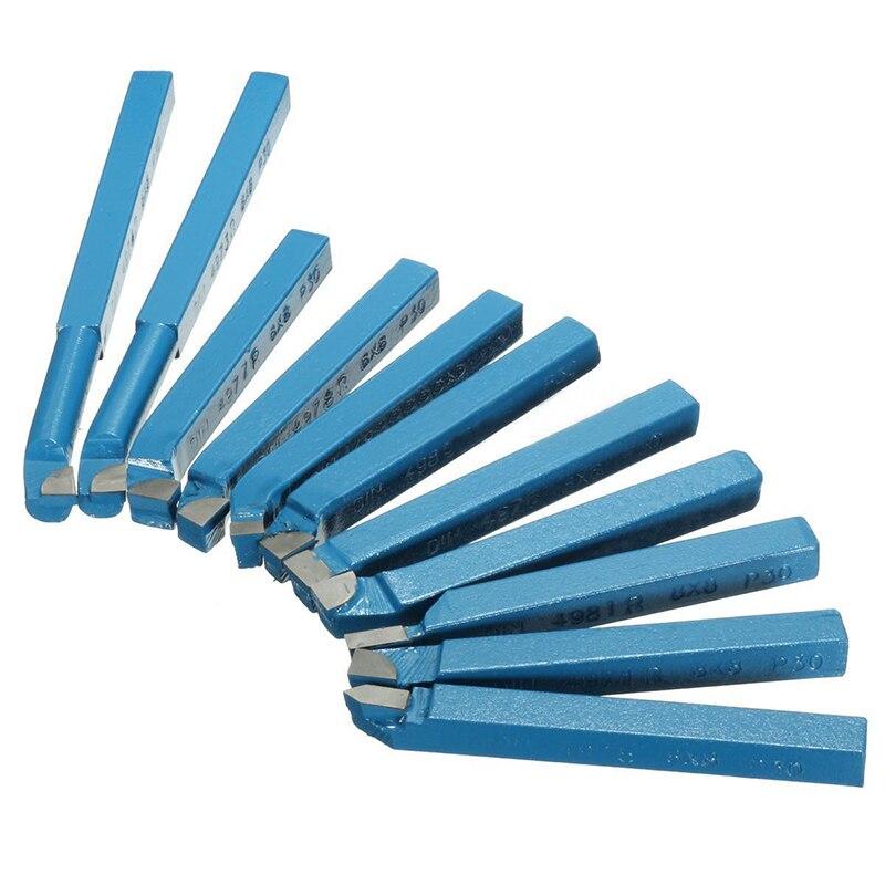 11Pcs 8*8mm Carbide Tip Tipped Bit Set Brazed Milling Cutter Tools For Metal CNC Lathe 11pcs set 8 8mm carbide tipped tool bit sets lathe tool turning tool kit z0141m dadicated for mini multipurpose machine