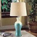 Mediterranean blue retro living room bedroom study lamp bedside lamp creative ceramics American country European L