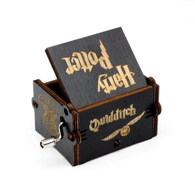 Engraved Wooden Harry Potter Music Box 4