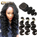 3Pcs Malaysian Virgin Hair Body Wave With Lace Closure Rosa Hair Products  Hot  Human Hair Bundles With Closure Free Shipping