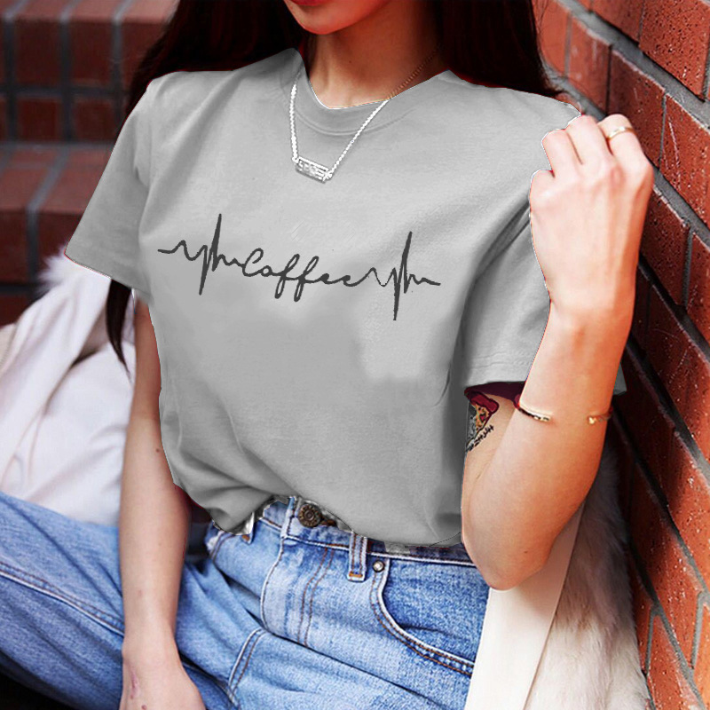 2019 Women Clothes Oversized T Shirt Sexy Feather Print Short Sleeve Fashion Plus Size Casual Couple Camisa Femenina T Shirt GBQ in T Shirts from Women 39 s Clothing
