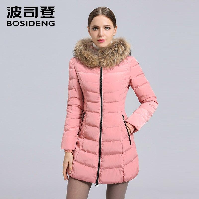 BOSIDENG women's clothing winter thick down coat winter long down jacket natural fur collar hooded SALE B1401166 1098 B1301216S
