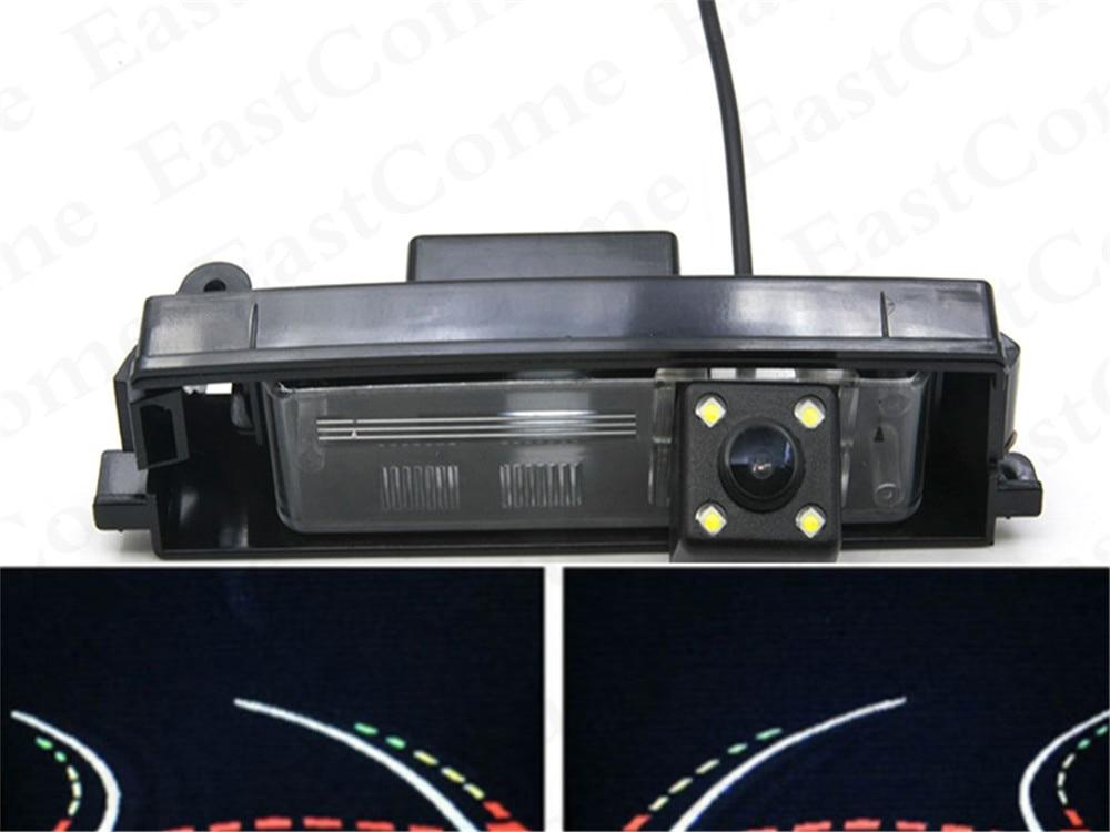 Dinâmica Trajetória Faixas 4LED À Prova D' Água Câmera de visão Traseira Reversa Estacionamento Camera para TOYOTA RAV4 2000-2012 Carro câmera reversa