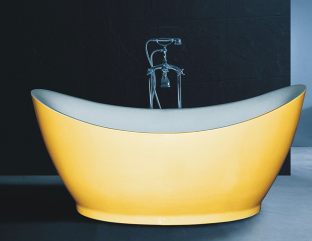 b538 special design soaking bath tub/deep bath tub yellow bathtub