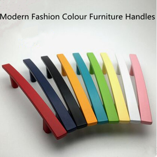 128mm modern fashion colour furniture decoative handle white black ...