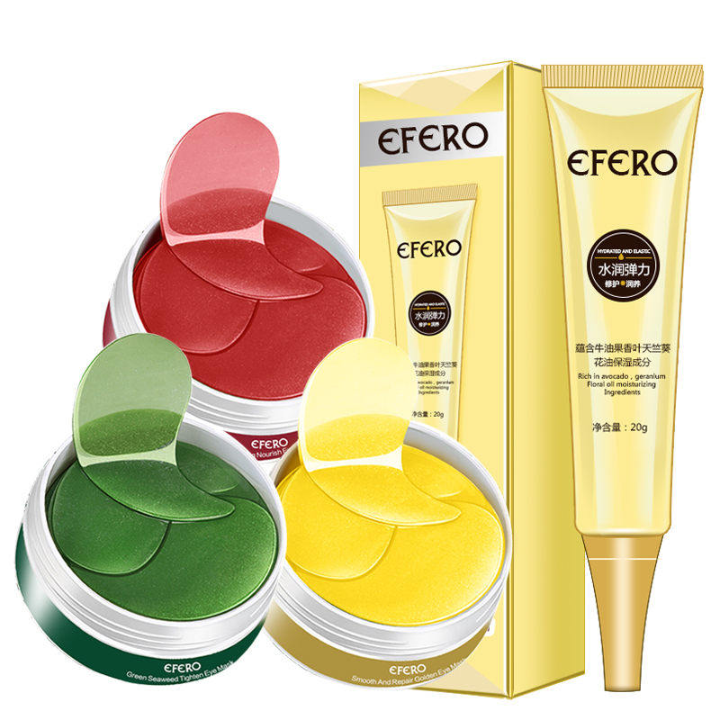 2PCS Collagen Eye Mask Eye Cream Anti Aging Crystal Mask Skin Care Gel Eye Patches Gold Hydrogel Eye Patch Repair Dark Circles(China)