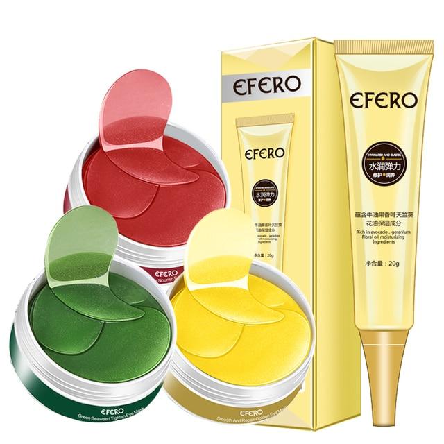 2PCS Collagen Eye Mask Eye Cream Anti Aging Crystal Mask Skin Care Gel Eye Patches Gold Hydrogel Eye Patch Repair Dark Circles