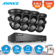 ANNKE HD 8CH 720P HDMI Security Camera System 8CH 720P 1080N 5IN1 DVR With Smart Search IR Cut Super Day/Night Vision Camera