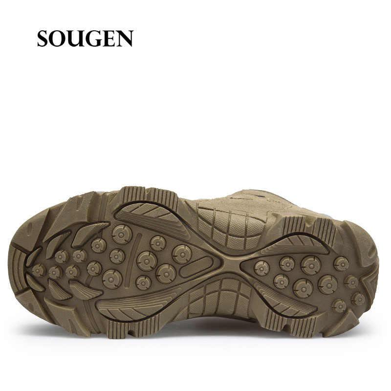 Army Boots รองเท้าทหาร Anti - collision Toe Cap Sapatenis ชายรองเท้าผู้ใหญ่รองเท้าผู้ชายรองเท้าผ้าใบรองเท้าเพื่อความปลอดภัย Steel toe