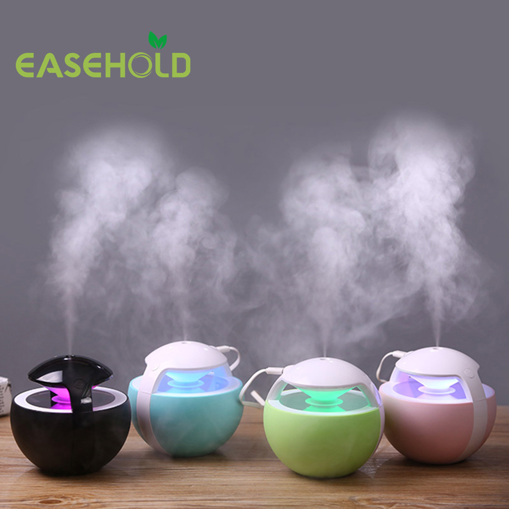 EASEHOLD 450ML Ball Humidifier with Aroma Lamp Essential Ultrasonic Electric Aroma Diffuser Mini USB Air Humidifier Fogger diffuserlove usb air humidifier 450ml ball humidifier with aroma lamp essential oil ultrasonic electric aroma diffuser fogger