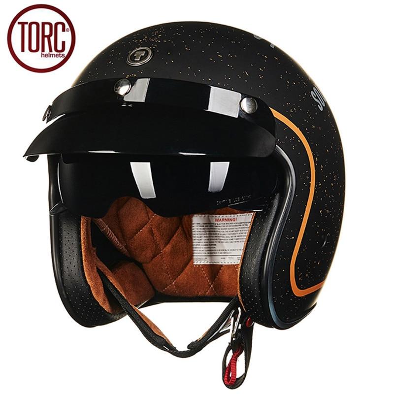 TORC Motorcycle Helmet Retro Harley Open Face Vintage Cruiser Helmet T5775 Moto Casque Casco motocicleta Capacete Helmets