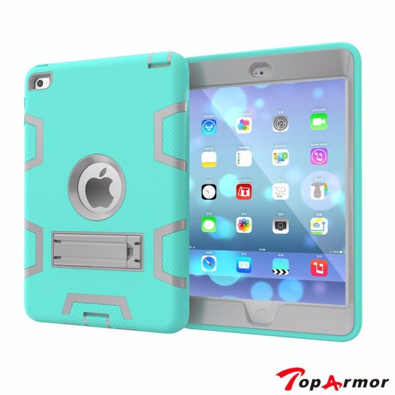 Caja de la tableta de apple ipad mini 4 mini4 toparmor hijos seguros armadura Resistente A Prueba de Golpes de 7.9 pulgadas PC de Tapa Dura capa coque