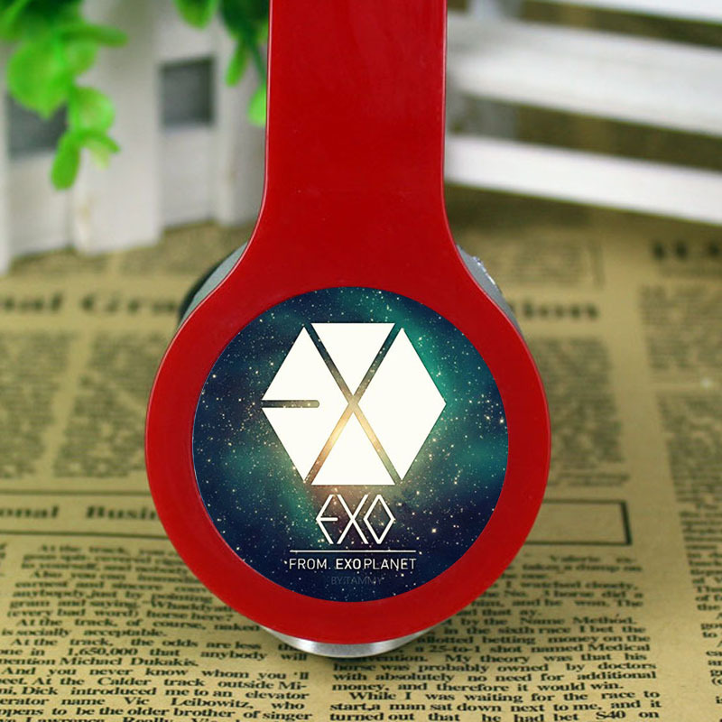 EXO KPOP Headband Headphones Earphones Noise Cancelling 3 5mm Wired Stereo Game Headset for Iphone Samsung