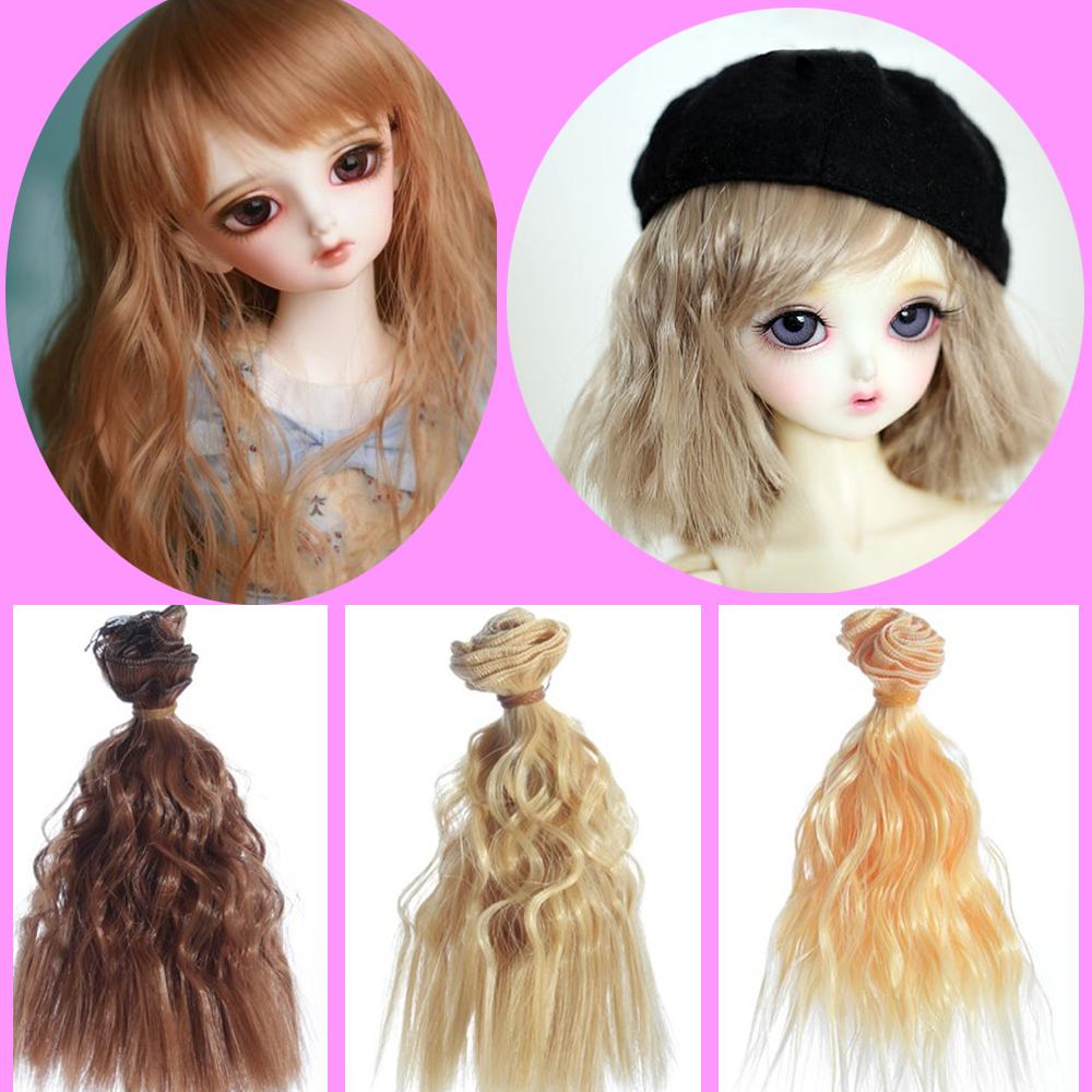 15cm*100cm Doll Wig Small Wavy Curly Hair For Dolls Fit BJD DD Doll High-Temperature Doll Accessories